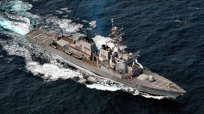 Эсминец ВМС США вошел в порт Румынии