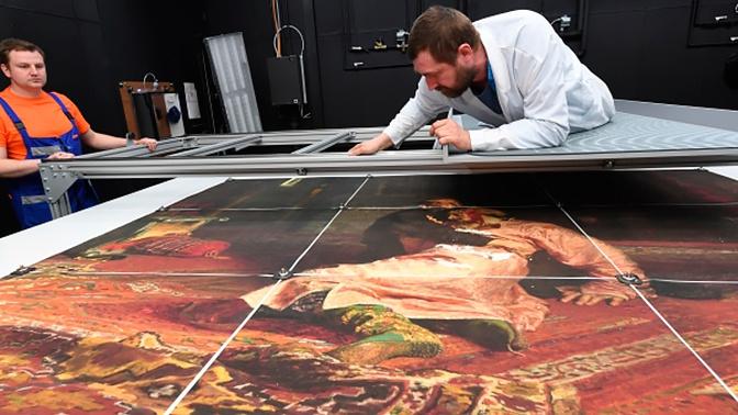 Реставраторы рассказали об уникальной технологии восстановления картины Репина