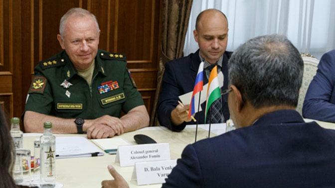 Замминистра обороны РФ встретился с послом Индии в России