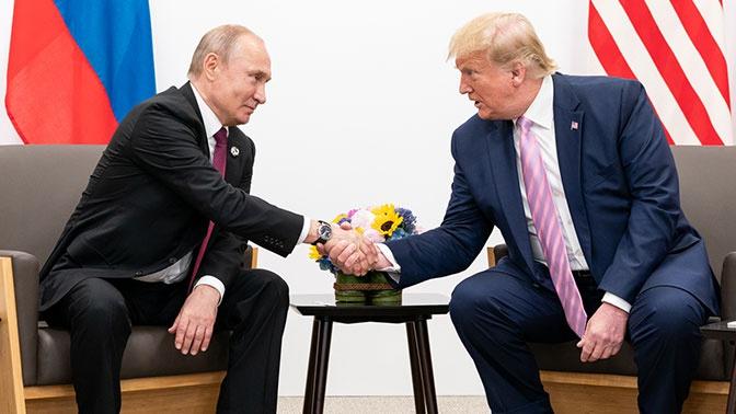 Путин поблагодарил Трампа запомощь впредотвращении теракта— Кремль