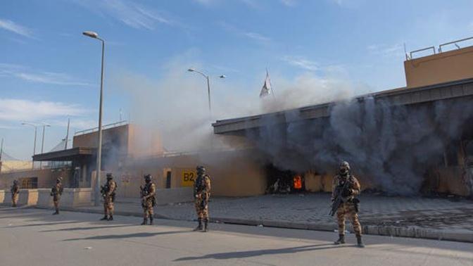 СМИ: в «зеленой зоне» Багдада у посольства США взорвалась ракета