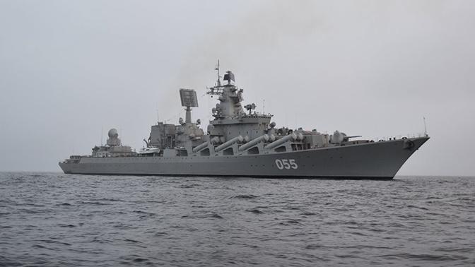 Ракетный крейсер «Маршал Устинов» вошел в Средиземное море
