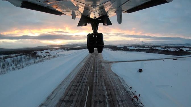 Экипажи МиГ-31 и бомбардировщиков Су-24 провели учения в Мурманской области