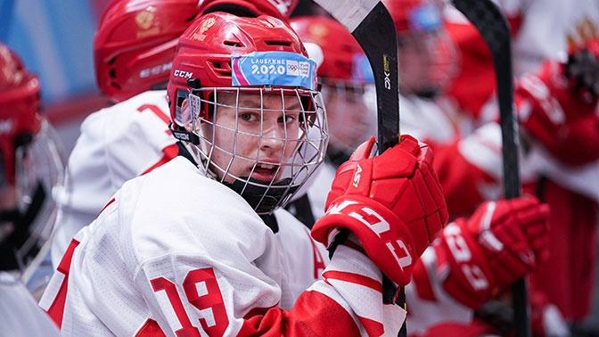 Российские хоккеисты обыграли датчан с разгромным счетом на юношеской Олимпиаде