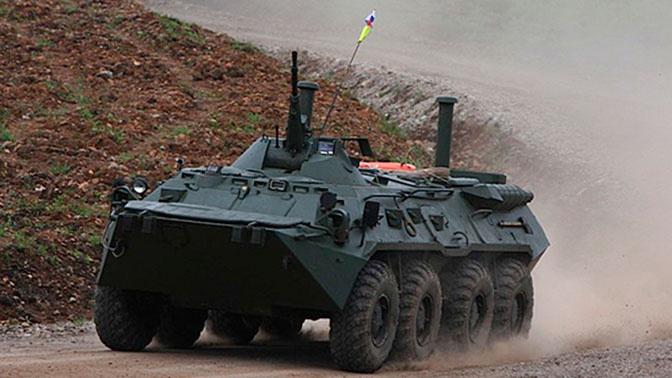 Военные РФ приняли участие в конкурсе среди экипажей БТР в Приднестровье