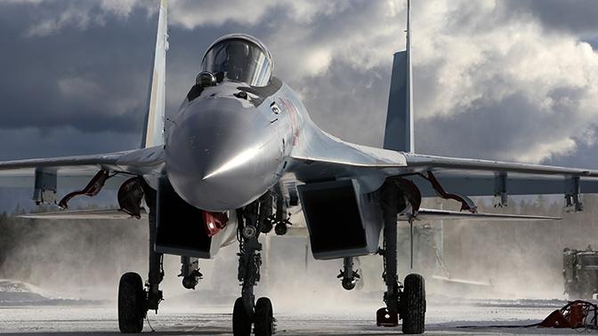 Учения экипажей истребителей Су-35С и МиГ-31 под Тверью