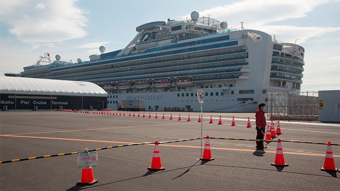 Россиянин рассказал о ситуации на карантинном лайнере Diamond Princess