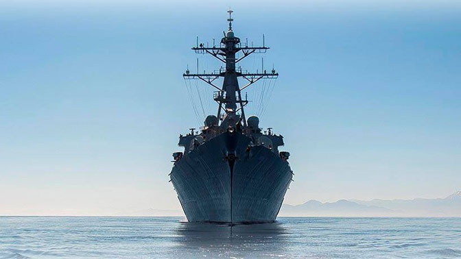 В США объяснили заход эсминца в Черное море