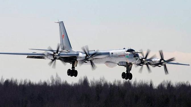 Ту-142 Северного флота провели полет над Норвежским и Баренцевым морями