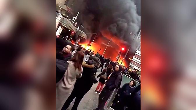 Парижский вокзал эвакуировали из-за пожара