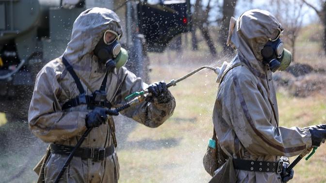 Войска РХБ защиты приступили к обработке техники на полигоне Кирилловский в Ленобласти