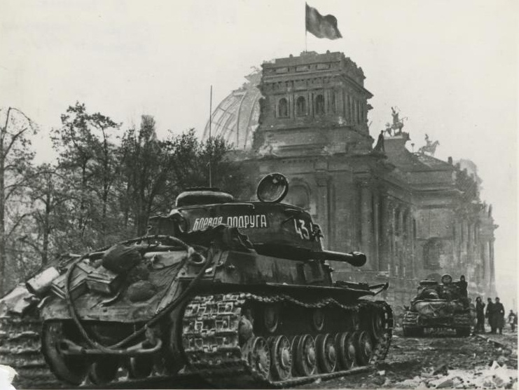 104-й гвардейский тяжелый танковый полк. ИС-2 у Рейхстага.