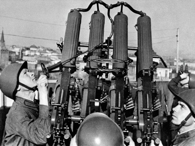 Счетверенная зенитно-пулемётная установка образца 1931 года.