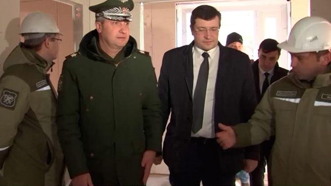 Замминистра обороны проинспектировал строительство многофункционального медцентра в Нижнем Новгороде