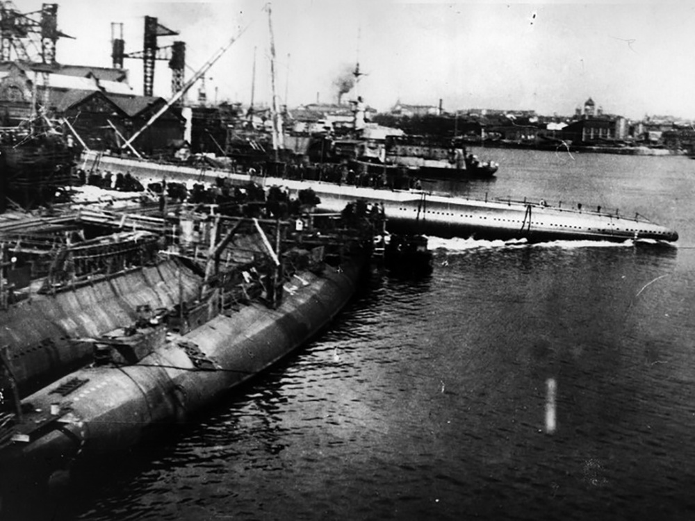 Спуск на воду подводной лодки Д-2 Народоволец 19 мая 1929 года