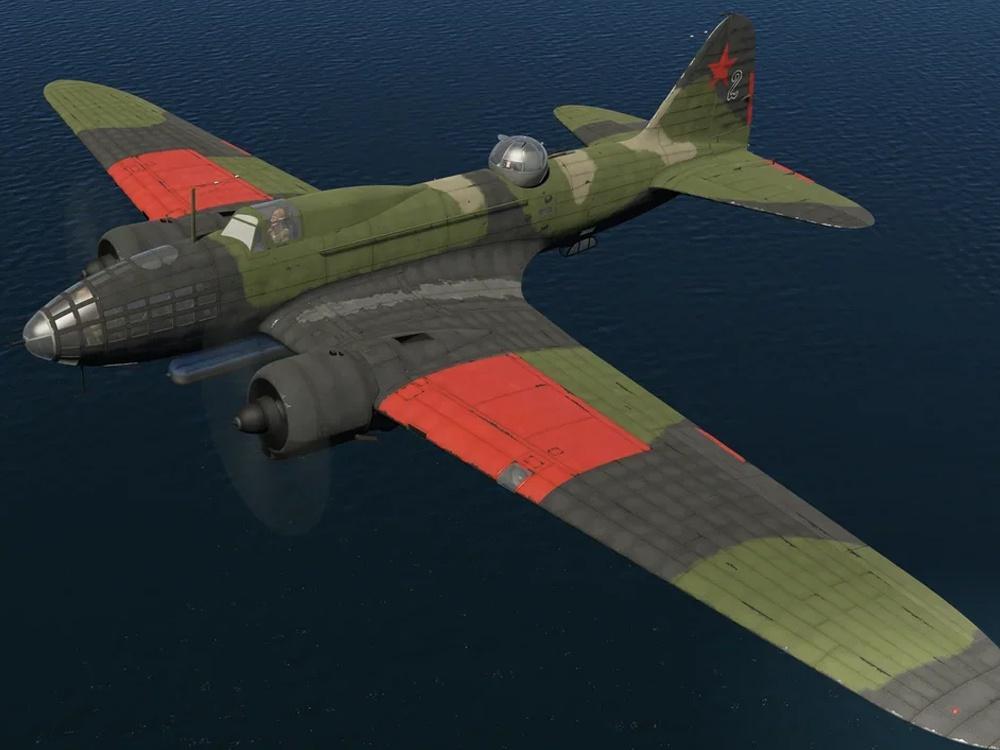Ил-4, 1-я минно-торпедная авиа дивизия Черноморского Флота (1943), skin by Zaryulenko, кадр из игры War Thunder
