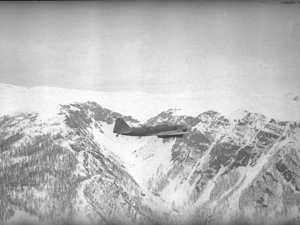 Самолет Ил-4 в полете