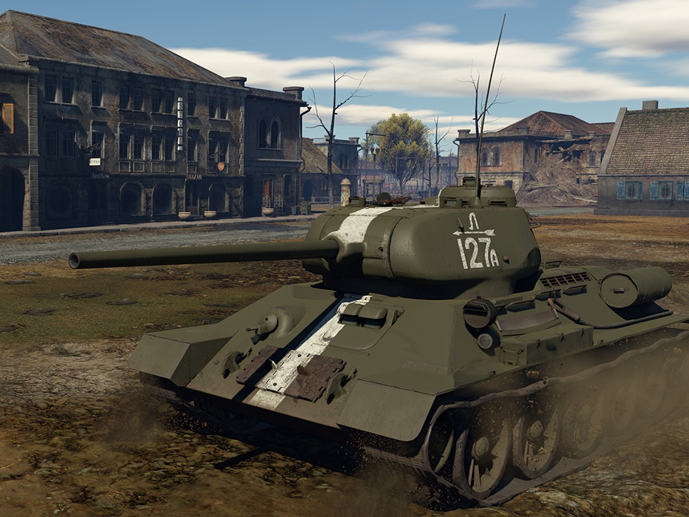 Т-34-85 №Л127А 4-я Гвардейская танковая бригада, Литва, осень 1944 года