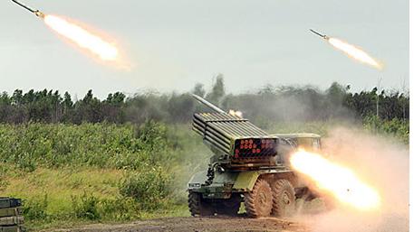 122-мм реактивная система залпового огня «Град»
